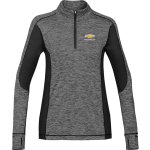 Ladies Carbon Heather/Black Lotus 1/4-Zip