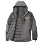 Grey Insulated Waterproof Tech Jacket