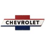Red, White & Blue Chevrolet Metal Sign