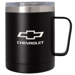 Black 12oz Stainless Steel Chevrolet Barrel Mug