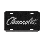 1969 Chevrolet Logo Crackle License Plate