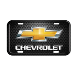 Gold Bowtie Chevrolet License Plate