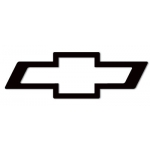 3X8 Black Chevrolet decal