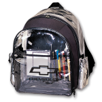 Clear Plastic Backpack w/ Open Bowtie Racing