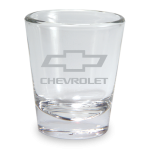 Etched Bowtie Clear Shot Glass