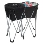 Black Collapsible Barrel Chevrolet Cooler w/Stand
