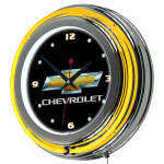 Chevrolet Gold BT Neon Clock