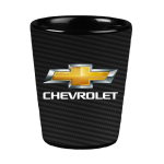 Carbon Fiber Chevrolet Ceramic Shot Glass