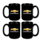 15 oz. Chevrolet Ceramic Mug SET of 4