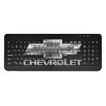 Carbon Fiber Chevrolet Wireless Keyboard