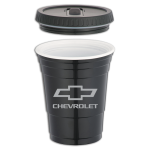 Chevrolet 16 oz. Game Day Cup & Lid Black