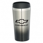 Stainless / Black Fade Away Chevrolet Tumbler