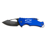 Blue Folding Knife with Bottle Opener