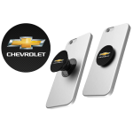 Black Chevrolet PopSocket with carbon fiber background