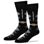 Chevrolet Argyle Crew Socks