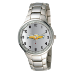Silver Chrome Chevrolet Watch