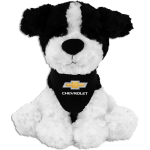 10 inch Plush Black and White Chevrolet Dog