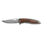 Wooden Handle Assist Folding Knife