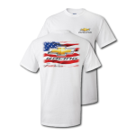 Chevy Racing/ True American White T-Shirt