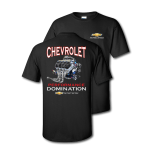 Black Chevrolet Racing Power Performance Domination T-Shirt