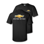 Chevy Racing Gold Bowtie Black T-Shirt