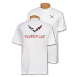 Corvette Racing 3D Emblem White T-Shirt