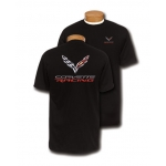 Corvette Racing 3D Emblem Black T-Shirt