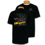 Black Corvette CR7 Racing T-Shirt