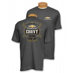 Dark Heather Chevrolet Racing Speed Shop T-Shirt