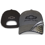 Grey/Black Chevrolet Racing Hat w/Checkered Flag