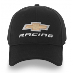 Black Chevy Racing Fitted Hat