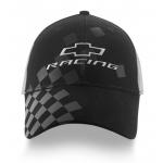 Black/ Grey Chevy Racing Hat with Checker Flag Bill