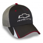 Blk Perf Fabric/Grey Mesh Chevrolet Racing Cap