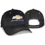 Black Athletic Fabric Gold BT Racing Cap