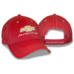 Red Athletic Fabric Gold BT Racing Cap