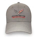 Lt Grey/ Stone Fitted Corvette Racing Hat