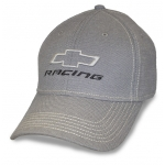 Lt Grey Fitted Hat w/ Stone Stitching. Open BT Racing