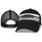 Blk/ Grey/ Wht Cap w/ Black Mesh. Chevy Racing Weld. Velcro