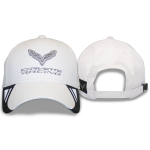 White Corvette Racing Perform Cap w/ Slide Buckle Closure