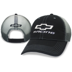Open Bowtie Racing Black Cap with Mesh Fade
