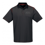 Carbon Fiber/Red Moisture Wicking Polo w/BT Racing