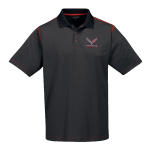 Carbon Fiber/Red Moisture Wick Corvette Racing Polo
