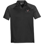 Men's Black/Graphite Corvette Next Gen Vector Polo