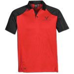 Men's True Red/Black Corvette Next Gen Vector Polo