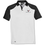 Men's White/Black Corvette Next Gen Vector Polo