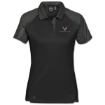 Women's Black/Graphite Corvette Next Gen Vector Polo
