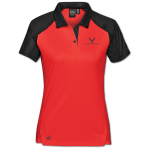 Women's True Red/Black Corvette Next Gen Vector Polo