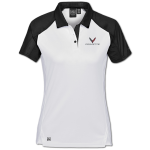 Women's White/Black Corvette Next Gen Vector Polo