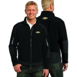 Black/ Grey Soft Shell Chevrolet Racing Jacket