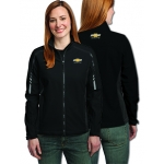 Ladies Black/Gray Soft Shell Chevrolet Racing Jacket
